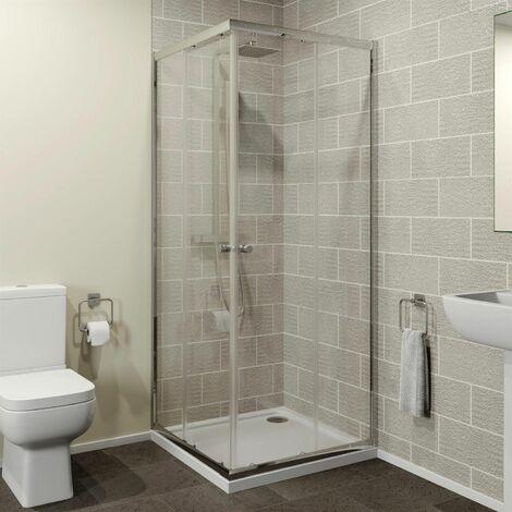 760 x 760mm Corner Entry Shower Enclosure Sliding Door 4mm Safety Glass Cubicle