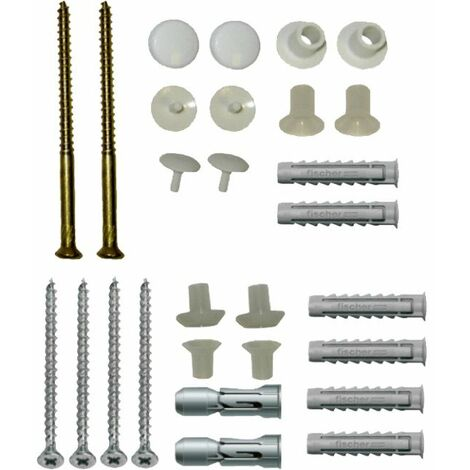 Essentials Basin and Toilet Fixing Pack - Vertical