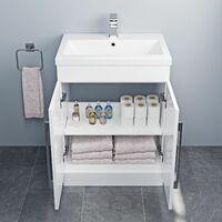 600mm Bathroom Vanity Unit Basin Cabinet Unit White Contemporary