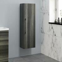 1200mm Tall Bathroom Wall Hung Cabinet Cupboard Soft Close Grey