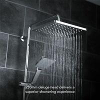 Mira Honesty ERD Mixer Shower Thermostatic Chrome 250mm Head Square 1.1901.002