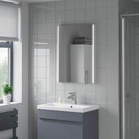 Bathroom LED Illuminated Luxury Mirror Battery Power Modern IP44 500x700mm