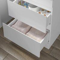 600mm Bathroom Floor Standing Vanity Unit Countertop Rectangular Basin White