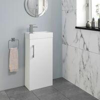 400mm Bathroom Basin Sink Vanity Unit Furniture Waterfall Mixer Tap FREE Waste