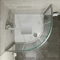 Hydrolux 800mm Quadrant Shower Enclosure 4mm Glass Easy Plumb Tray Waste