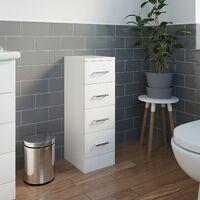 White Bathroom Vanity Unit Tall Cabinet Storage Drawer Basin Sink Toilet Gloss