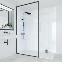 Multipanel Bathroom Shower Wall Panel Blizzard 2400 x 1200mm Unlipped Waterproof