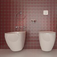 Bathroom Chrome Towel Ring Wall Mounted Round Stylish Modern