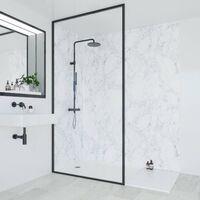 Multipanel Bathroom Shower Wall Panel Bianca Luna 2400x1200 Unlipped Waterproof