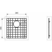 Reginox Miami Modern Kitchen Sink Bottom Plate Copper Finish 400 x 400mm