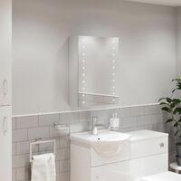 Bathroom LED Mirror Cabinet Illuminated Demister Shaver Socket IP44 600 x 450mm