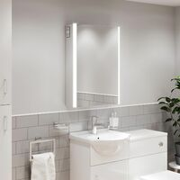 Bathroom LED Mirror Cabinet Shaver Socket Bluetooth Speakers IP44 700 x 500mm