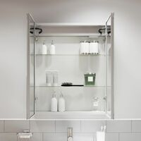 Modern Bathroom Cabinet/LED Mirror Wall Hung Illuminated Shaver Sensor 600 x 700