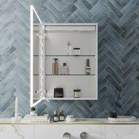 Bathroom LED Mirror Cabinet Illuminated Demister Pad Shaver Socket 700 x 500mm