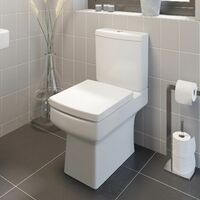 Complete Bathroom Suite Close Coupled Toilet Basin Straight Bath Screen Taps