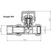 Duratherm Straight Anthracite Thermostatic Radiator Valve Pack 15mm TRV