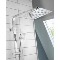 Aqualisa Deco Thermostatic Mixer Shower Square Bar Valve Chrome DECO.SQR.SC.CH