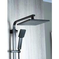 Aqualisa Deco Thermostatic Mixer Shower Square Bar Valve Black DECO.SQR.SC.MB