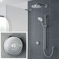 Mira Activate Digital Shower Twin Outlet Head Bathroom Gravity Pumped Rear Fed