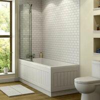 Bathroom Suite 1800 Single Ended Bath Close Coupled Toilet Basin Pedestal White