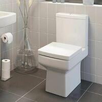 1700mm Bathroom Suite RH L Shape Bath Shower Screen Vanity Basin Taps Toilet