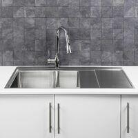 Säuber Kitchen Sink 1.5 Bowl Right Hand Drainer Stainless Steel Inset Waste