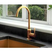 Ellsi Entice Kitchen Mixer Swivel Spout Sink Tap Lever Mono Brushed Copper
