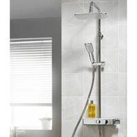 Triton Thermostatic Mixer Bar Shower Twin Head Adjustable Riser Rail Chrome