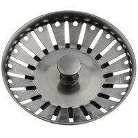 Strainer Kitchen Basin Sink Waste Plug Flange 90mm Gunmetal Finish Replacement