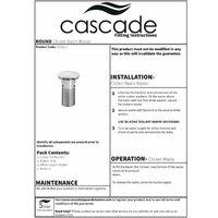 """Cascade Bathroom Basin Sink Clicker Waste Plug Slotted 1 1/4"""" Chrome Round"""