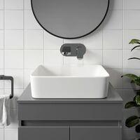 Ceramic Bathroom Vanity Wash Basin Sink Countertop Rectangular Modern 480x370mm