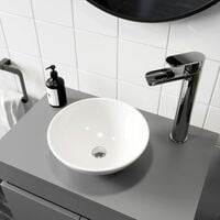 Ceramic Bathroom Vanity Wash Basin Sink Countertop Round Modern 280 x 280mm