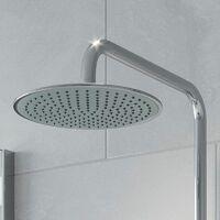 Bathroom Shower Mixer Thermostatic Set Twin Head Chrome Round Set