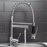 Sauber Kitchen Mixer Tap Dual Spout with Pull Out Spray