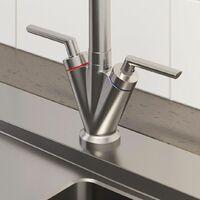 Sauber Valdivia Brushed Finish Kitchen Mixer Tap
