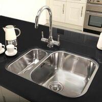 Reginox Alaska Undermount 1.5 Bowl Kitchen Sink Stainless Waste