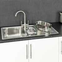 Reginox Centurio 1.5 Bowl Kitchen Sink Reversible Stainless Steel Integrated