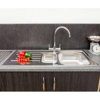 Reginox Lemans 1.5 Bowl Kitchen Sink Stainless Reversible + Waste