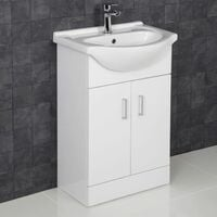 Bathroom Suite Single Ended Bath Close Coupled Toilet Vanity Unit