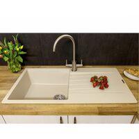 Reginox Harlem10 1 Bowl Kitchen Sink Drainer Caffe Silvery Granite