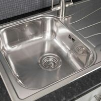 Reginox Diplomat 1.0 Bowl Kitchen Sink Reversible Drainer Inset Stainless Steel
