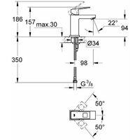 Grohe Eurocube Smooth Basin Mixer
