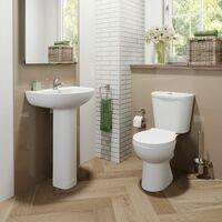 Essentials P Bathroom Suite with Left Hand Bath