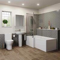 Arles Bathroom Suite - L Shaped Shower Bath - Left Hand