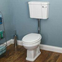 Park Lane Windsor Low Level Toilet with White Toilet Seat