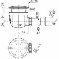 Mira Vortex 90mm Shower Waste