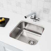 Säuber Kitchen Sink Single Bowl Brushed Stainless Steel Undermount Square Waste