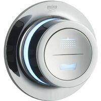 Mira Mode Dual Chrome Pumped Ceiling Fed Shower 1.1874.010
