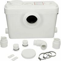Flo-Force Ultra Sanitary Macerator Bath Sink Shower Waste Pump White 3 Inlets
