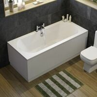 Ceramica Double Ended Curved Bath - 1800x800mm